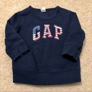 3/$25 GAP American Flag Logo Sweatshirt